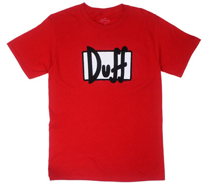 Duff Logo - Duff Beer - Simpsons T-shirt