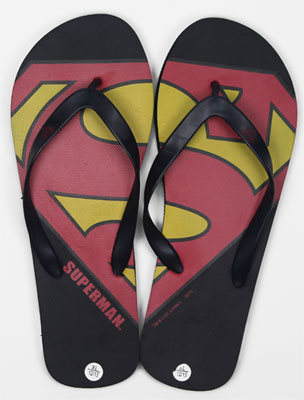 Superman Logo - DC Comics Sandals