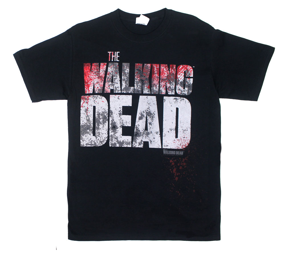 Bloody Distressed Logo - Walking Dead T-shirt