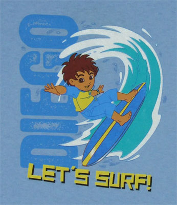 Let's Surf! - Go Diego Go Toddler T-shirt