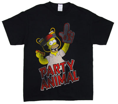 Party Animal - Homer - Simpsons T-shirt