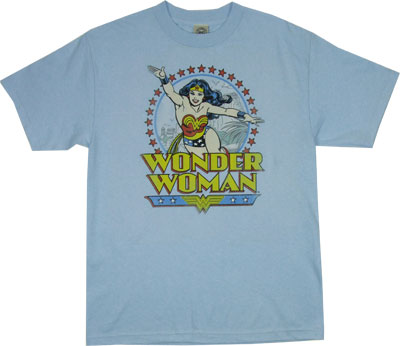 Wonder Woman In Circle - DC Comics T-shirt