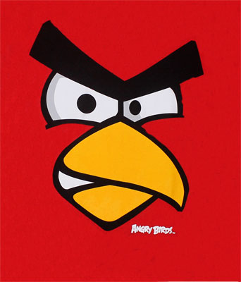 Red Bird Face - Angry Birds Youth T-shirt