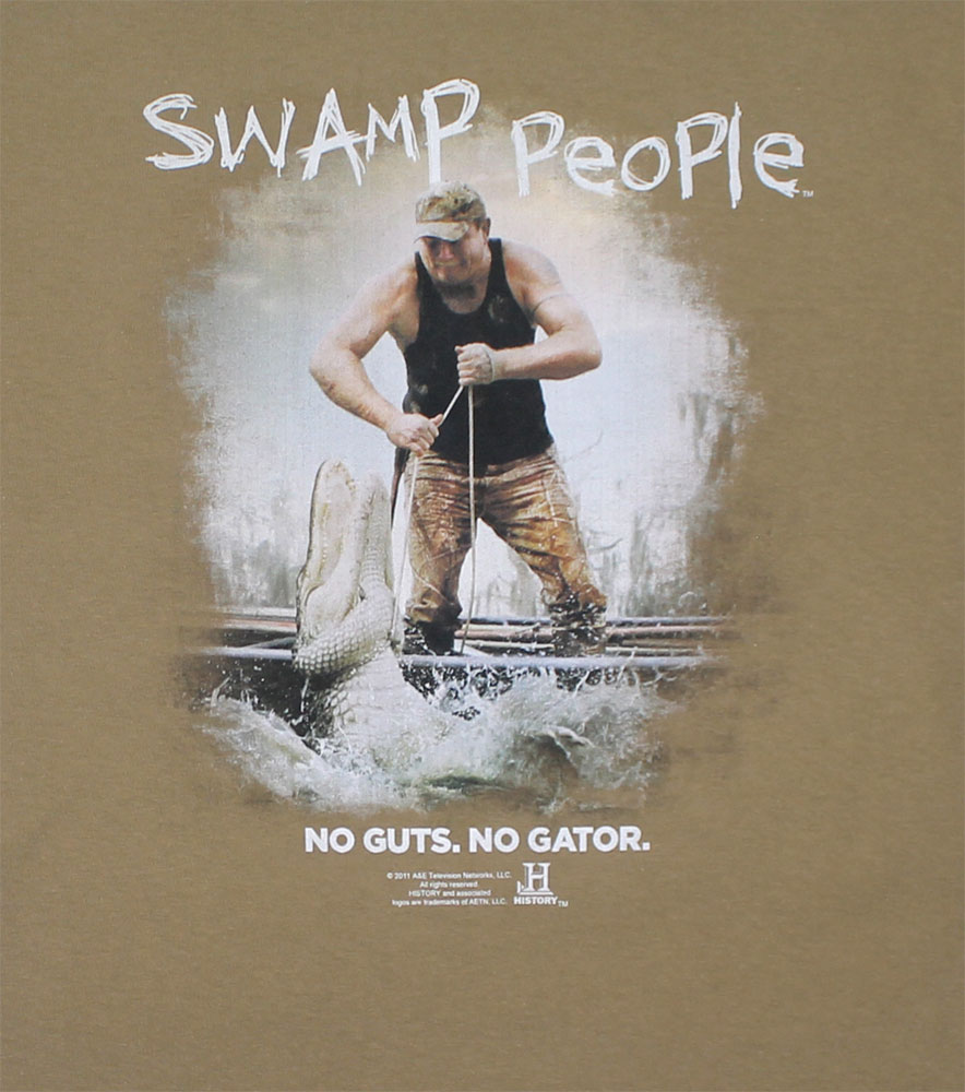 No Guts No Gator - Swamp People T-shirt