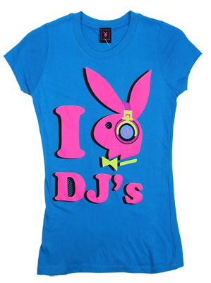 I Heart DJs - Playboy Sheer Women's T-shirt