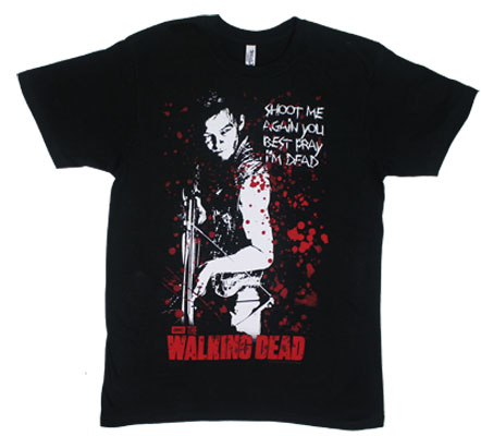 Shoot Me Again You Best Pray I'm Dead - Walking Dead Sheer T-shirt