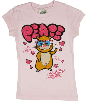 Pipsqueak Peace - Zhu Zhu Pets Sheer Girls T-shirt