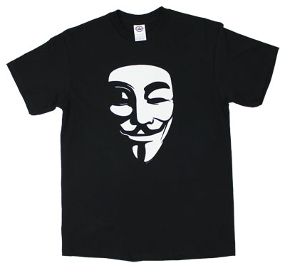 White Mask - V For Vendetta T-shirt