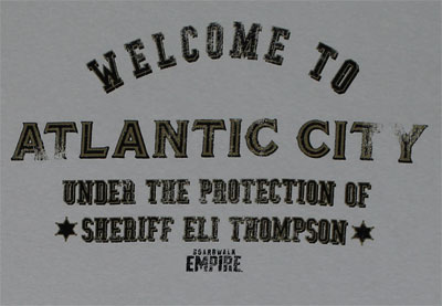 Welcome To Atlantic City - Boardwalk Empire T-shirt