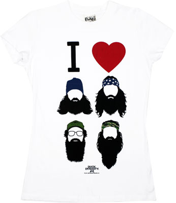 I Heart Beards - Duck Dynasty Sheer Women&#039;s T-shirt