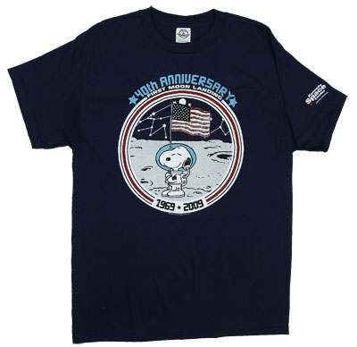 Moon Landing 40th Anniversary - Snoopy - Peanuts T-shirt