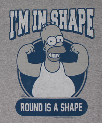 I'm In Shape - Simpsons T-shirt
