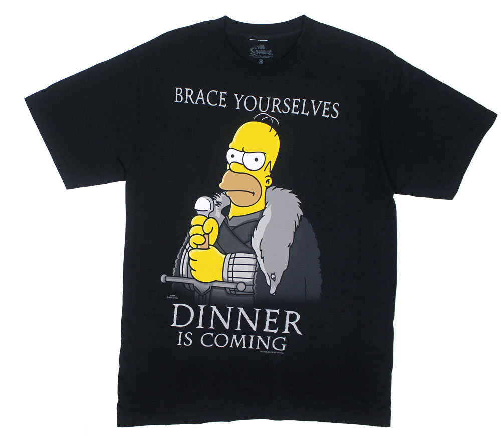 Dinner Is Coming - Simspsons T-shirt