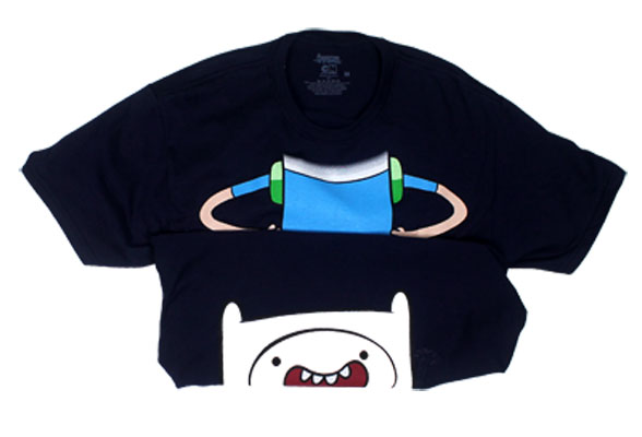 Finn Body And Face - Adventure Time Reversible T-shirt