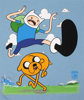 Jump Kick - Adventure Time T-shirt