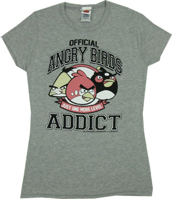 Official Angry Birds Addict - Angry Birds Sheer Women's T-shirt