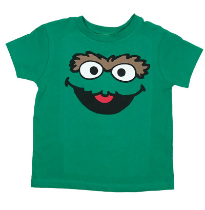 Oscar Face - Sesame Street Juvenile T-shirt