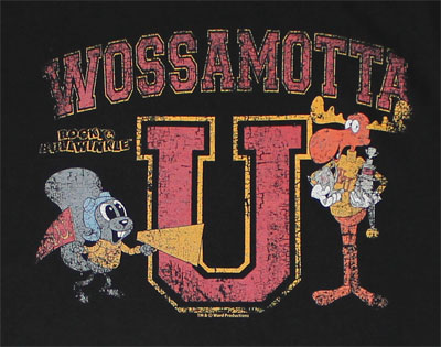 Wossamotta U - Rocky And Bullwinkle Sheer T-shirt