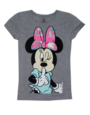 Secret Minnie - Disney Girls T-shirt