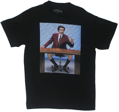 Pantsless - Anchorman T-shirt