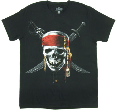 Jolly Roger - Pirates Of The Carribean Sheer T-shirt