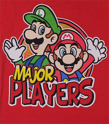 Major Players - Mario And Luigi - Nintendo Juvenile T-shirt