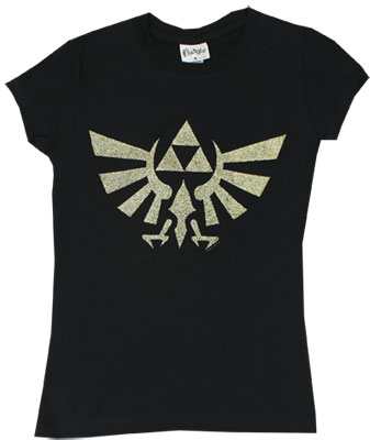 Glitter Triforce - Nintendo Sheer Womens T-shirt