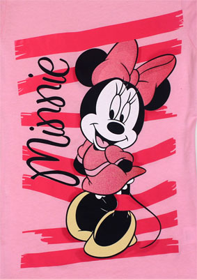Bashful Minnie Mouse - Disney Girls T-shirt