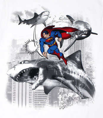 Superman Vs. Sharknado - DC Comics T-shirt