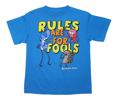 Rules Are For Fools! - Regular Show Touth T-shirt