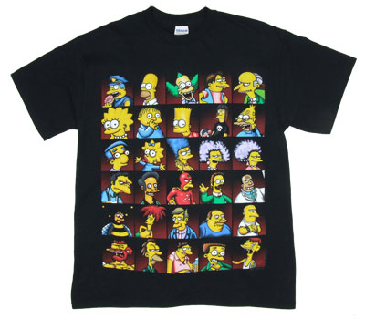 Simpsons Grid - Simpsons T-shirt