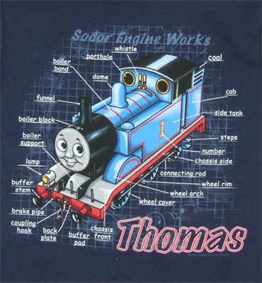 Schematics - Thomas The Tank Engine Juvenile And Toddler T-shirt