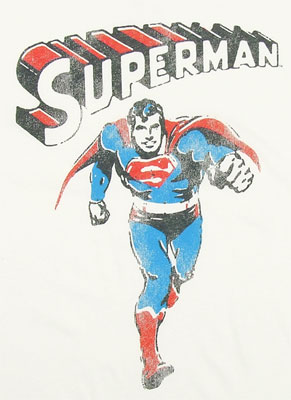 Superman Running - Junk Food Mens T-shirt