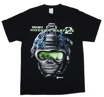 Helmet - Call Of Duty Modern Warfare 2 T-shirt