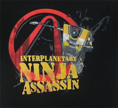 Interplanetary Ninja Assassin - Borderlands 2 T-shirt