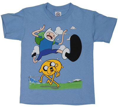 Jump Kick - Adventure Time Youth T-shirt