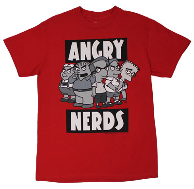 Angry Nerds - Simpsons T-shirt