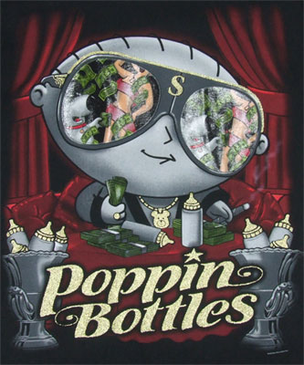 Poppin Bottles - Stewie - Family Guy T-shirt