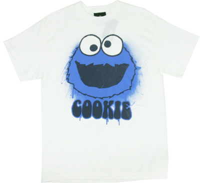 Painted Cookie Monster - Sesame Street T-shirt