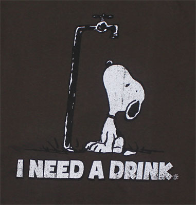 I Need A Drink - Peanuts Sheer T-shirt