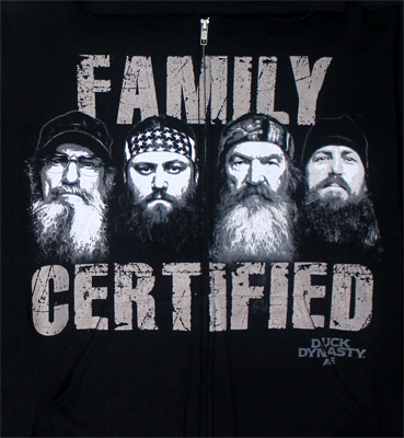 Family Certified - Duck Dynasty Hooded Sweatshirt