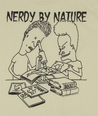 Nerdy By Nature - Beavis And Butthead T-shirt