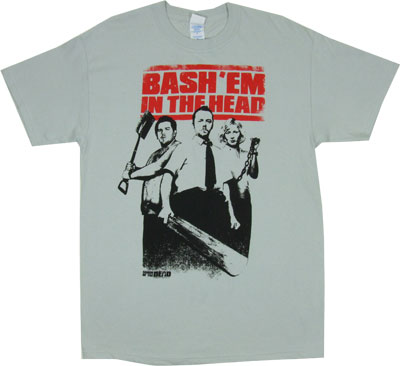 Bash Em In The Head - Shaun Of The Dead T-shirt