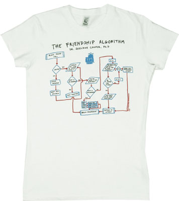 Friendship Algorithm - Big Bang Theory Sheer Women&#039;s T-shirt