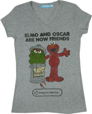Elmo And Oscar Are Now Friends - Sesame Street Sheer Women's T-shirt