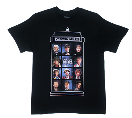 Eleven Doctors - Dr. Who T-shirt