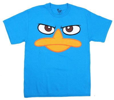 Perry Face - Phineas And Ferb Boys T-shirt