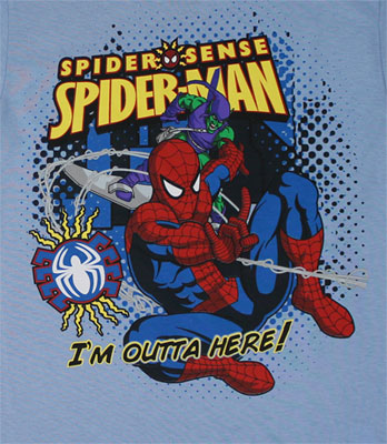 I'm Outta Here! - Spider-Man - Marvel Comics Juvenile T-shirt