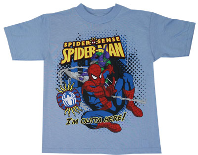 I&#039;m Outta Here! - Spider-Man - Marvel Comics Juvenile T-shirt