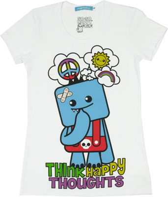 Think Happy Thoughts - So-So Happy Sheer Women's T-shirt